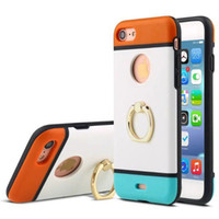 Wholesale Hand For Case S3 - fashion walnutt dual color colorful hand ring stand combo case cover skin for Samsung Galaxy S3 S4 S5 S6