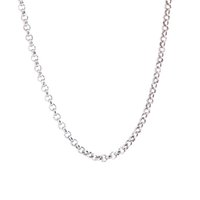 """Wholesale Pearl Necklace 24 - 50pcs rolo Chain 20"""" 24'' 30"""" 316L stainless steel 2.5mm width necklace chain for women men pendant"""