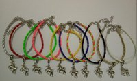 Wholesale Lucky Charm Bracelet For Women - Wholesale-Horse Unicorn Bracelets Lucky Charms Leather Bracelet Amulet Jewelry Making Wristband For Women Gifts Accessories 10pcs B433