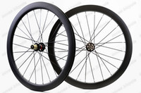Wholesale Disc Brake Bike Wheel - 700C 50mm depth 25mm width carbon wheels Disc brake cyclocross carbon road bike wheelset Clincher  Tubular U-shape rim
