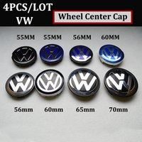 Wholesale golf cars vw - 56mm 60mm 63mm 65mm 70mm ABS for VW car emblem wheel center hup caps car badge emblem for Passat B6 B7 CC Golf Jetta MK5 MK6 Tiguan