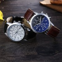 Wholesale Wholesale Top Shop - Waterproof Men Watches Thin 40mm Dial Leather Luxury Brand Shopping Big Sale Wholesale Price cheap horse fifth New Top