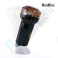 Wholesale Manmiao Sex Toy - MANMIAO Man Trainer Male Hands Free Masturbators with Suction Cup, Sex Toys for Male Fake Pussy Male Artificial Vagina 17402