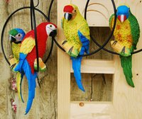 Wholesale Houses Drawings - Blue Home Decoration Bionic Parrot Resin Handicraft Best Ornaments For Part And House Garden