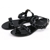 Flat Heel black injection - New Shoes Woman Sandals Lovely Flower Jelly Shoes Solid Casual Slides Summer Style Sandalias Fashion Flats Slippers