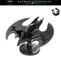 Wholesale Batman Batwing - Pandamodel@Batman BATMAN 1989 BATWING C 3D Metal model Etching puzzle Metal Earth ICONX Plating color Creative gifts