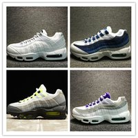 Wholesale Air Man Max - 2017 Wholesale Hot Sale Running Shoes Men women Air Cushion 95 Sneakers Boots Authentic Maxes 95 Walking Outdoor Sports Shoes Size 36-46