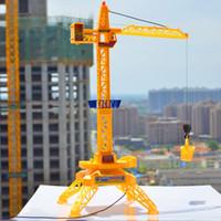 Wholesale Toy Crane Ship - Wholesale-1:64 Electric remote control tower crane,cable channel 4 remote control engineering,Toys engineering crane,free shipping