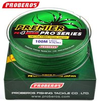 Wholesale 100M Fishing Line Red Green Grey Yellow Blue braided fishing line available LB LB PE Line Green Package