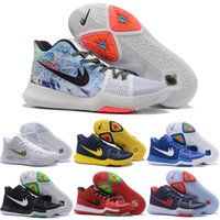 Drop Shipping Wholesale Basketball Shoes Men Cheap Kyrie 3 Sneakers Alta qualidade 2017 Novo Kyrie Lrving Sports Shoes For Sale Tamanho 7-12