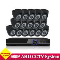 Wholesale 3g Video Camera Ir - Home Video surveillance System AHD CCTV DVR System 16CH 960p 2500TVL indoor IR Cameras DVR Kit System HDMI 1080P NVR 3g wifi
