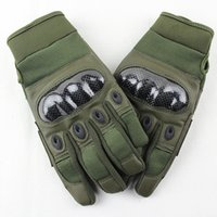 Wholesale Tactical Bicycle Gloves - Wholesale- Tactical Gloves for Men outdoor full finger army gloves antiskid sports microfiber Motocycel Bicycle Mittens Shooting gloves
