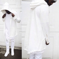 Wholesale Loose Fitting Coats - Wholesale-Men's Hooded Sweatshirt New Special Design Spring Autumn Brand Men Solid Hoody Cardigan Outerwear Oversize Loose Fit Coat M-3XL