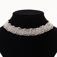 ingrosso gioielli che fanno gli accessori della porcellana-Collana da sposa in stile con strass di cristallo pieno di moda nuziale Set di gioielli Made in China Accessori all'ingrosso