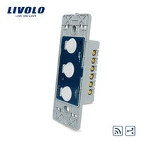 Wholesale Remote Ac Wall Switch - LS05-Manufacturer, Livolo AC 110~250V The Base Of Wall Light Touch Screen Remote Switch, 3Gang 2Way, VL-C503SR
