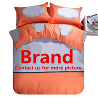 Wholesale Duvet Cover More - Wholesale-H CC 14 kinds of Brand Bedding set duvet cover+flat sheet+pillowcases queen size 4pcs (must contact us for more big brand color