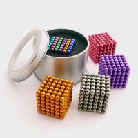 Wholesale Magic Box Sets - Buckyball 5mm Magnetic Ball Cube Magic Puzzle Metaballs Magnetic Ball Magnet Colorfull Magic Toys 216pcs set 12 colors with box