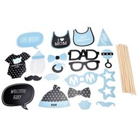 20 Teile / los Photo Booth Props Photobooth Für Blau Jungen Baby Shower Party Geburtstag Party Dekorationen 1 Satz