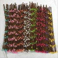 pfeilgirlande großhandel-Neue Design Pip Berry Dekorationen Girlanden 9 Farben Künstliche Seidenblumen Mit 40 cm für DIY Hochzeit Kränze Für Hausgarten
