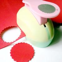 Wholesale Paper Punchers - Wholesale- 5cm Hole Punch Cortador De Papel Circle Shaped Craft Punchers Diy Scrapbooking Punches Furador Perfurador Paper Cutter