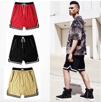 Wholesale Men S Drop Crotch Pants - Fear of God 2017 Newest Arrivals Europe vintage style Mens Haren Shorts Zipper Pocket Shorts Hip Hop Shorts Drop Crotch jogging pants