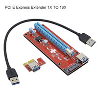 Wholesale Pci E Graphics Card - PCI-E Express Extender Riser Card Adapter 1X to 16X graphics card extension line of PCI-E mining special adapter card
