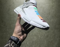 Wholesale Colorful Runners - Rainbow Colorful 2017 Human Race NMD Runner Pharrell Williams X Human Race Running Shoes Men Women Basketaball Shoes Freeshipping Size 41-45