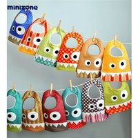 Wholesale Saliva Scarf - INS explosion small monster mouth saliva towel baby cotton scarf bib pocket baby child child mouth 15 style.free shipping