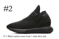Wholesale Vista Green - Y-3 QASA RACER High red Vista Grey Sneakers Breathable Men and Women Running Shoes Couples Y3 Outdoor Trainers Size 5-12