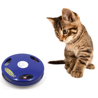Wholesale Animal Tail Mouse - 2017 New Pet cat turntable funny cat bar Tail Spin Rat mouse tail toys free shipping