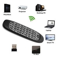 Air Mouse Wireless 2.4GHz Mini teclado remoto portátil Backlight Teclados Controlador inteligente de dupla face Para TV BOX Game Play