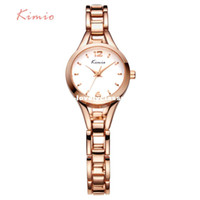Women's Water Resistant Round KIMIO Ladies Simple Small Round Dial Rose Gold Skeleton Bracelet Womens Watches 2016 Top Brand Casual Quartz Watch Waches Women
