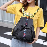 Wholesale College Book Bag - Fashion Backpack LOVE Drawstring School Bag Women Teeneger College Book Bag Rucksack Laptop Bags Travel Bags 5 Candy colors YYA426