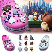 Wholesale life shoes for sale - Group buy 9Pcs The Secret Life of Pets PVC Cartoon Shoe Charms Ornaments Buckles Fit for Shoes Bracelets Charm Decoration Shoe Accessories