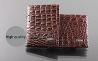 Wholesale Houndstooth Dresses Wholesale - 2017 new style fashion quality leather luxury wallet , Alligator grain casual short design card holder money wallets for men free shipping