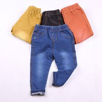 Wholesale Yellow Jeans For Boys - Jeans Pants for the Boy Denim Pants for Children Clothes Autumn Winter Classic School Trousers Kids Jeans Casual Baby Clothing