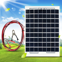 Wholesale high efficiency solar - High Efficiency 10W 12V Cell Solar Panel Module Battery Charger RV Boat Camping Outside 4M Cable CEC_61J