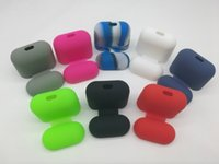 Wholesale Purses Water Resistant - 8 colors Silicone Protective Case Purse For iPhone Airpods iPhone 7 Twins True Wireless Headset Silicone Airpod Protective Bag Case