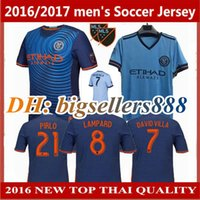 317bf3cc9 Top Thai quality 17 18 New York Home blue Soccer Jersey 2017 2018 city away  DAVID VILLA LAMPARD PIRLO Football Shirts ...