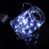 Wholesale Mini Solar Water - 2017 3XAA Batteries Operated Led String Mini LED Silver Wire String Fairy Light Christmas Xmas Home Party Decoration Light White
