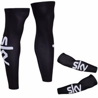 Wholesale Cycling Gear For Women - 2017 SKY Pro Team Black Color Cycling Arms & Legs Winter Thermal Fleece MTB For MEN WOMEN Bike Arms Legs Size S-3XL Protection Gears