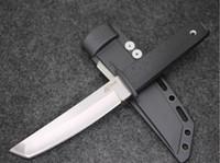 faca de ponto venda por atacado-Chegada nova Cold Steel 17 T KOBUN Sobrevivência Stright faca Tanto Ponto de Cetim Lâmina Utilitário Lâmina Fixa Caça Ferramentas