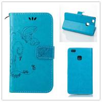 Wholesale Huawei Ascend Flip Case - Huawei Ascend P9 Lite   G9 Lite Case Retro PU Leather Wallet Flip Case Beautiful Intaglio Flower Cover Card Solt