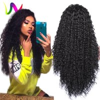 Wholesale Cheapest Synthetic Full Lace Wigs - Full Density Synthetic Lace Front Wigs With Baby Hair Realistic Wigs Afro Curly Cheap Synthetic Lacefront Wigs For Black Women
