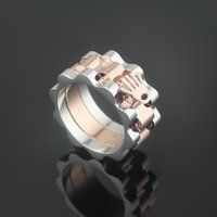 Wholesale Love Ring Gold Vintage - Hot Vintage 316L Stainless Steel Men Ring Wholesale Jewelry R Color Rings for Women Rose Gold Plated Love Ring Free Shipping