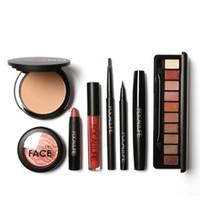 Wholesale Makup Bag - Wholesale- Professional Makeup Set Makup Set 6 8 PCS Must Have Cosmetics Including Eyeshadow Lipstick With Makeup Bag M02989