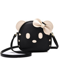Wholesale Cat Interior Soft - free shipping NEW High Quality Pu Leather Cute Fashion Women Bags Mini Cat Crossbody Bags For Girls Panelled