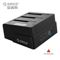 Wholesale Hdd Dock Orico - Wholesale- ORICO 3-Bay USB 3.0 Duplicator Dock for 2.5 inch 3.5 inch SATA Hard Drive HDD Support Clone With 12V4A Power Adapter