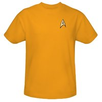 Wholesale Trekking Fashion - Wholesale- New Quality Retail Fashion Star Trek Funny Tshirts T-shirts Men T Shirts Tops &Tees shirt 2 Colors Yellow  Black