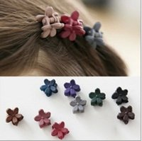 Wholesale Mini Claw Hair Clips Wholesale - Korean children's hair ornaments, cute small frosted flowers, mini hairpin, baby girls grasping clip, hairpin
